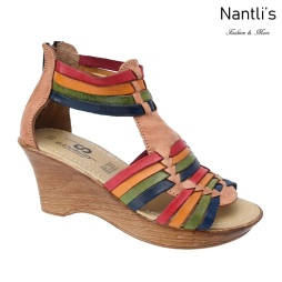 TM-35223 Zapatos Tejidos Mexicanos de Mujer Huaraches Mayoreo Wholesale Womens Mexican handwoven shoes wedges Nantlis Tradicion de Mexico