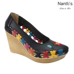 TM-35335 Zapatos Tejidos y Bordados Mexicanos de Mujer Mayoreo Wholesale Womens Mexican Embroidered and handwoven shoes wedges Nantlis Tradicion de Mexico