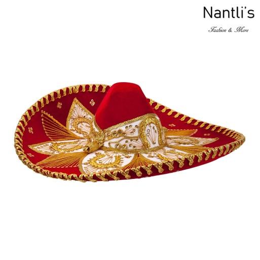 sombreros charros mayoreo TM-71152 Red-Gold Sombrero Charro Nantlis Tradicion de Mexico