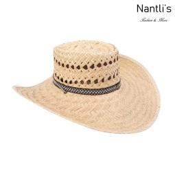 sombreros de paja mayoreo TM-71183 Sombrero gallero de palma palm leaf hat Nantlis Tradicion de Mexico