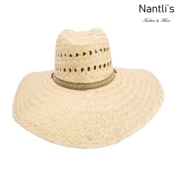 sombreros de paja mayoreo TM-71184 Sombrero de palma palm leaf hat Nantlis Tradicion de Mexico