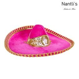 sombreros charros mayoreo TM-71223 Pink-Gold Sombrero Charro Nantlis Tradicion de Mexico