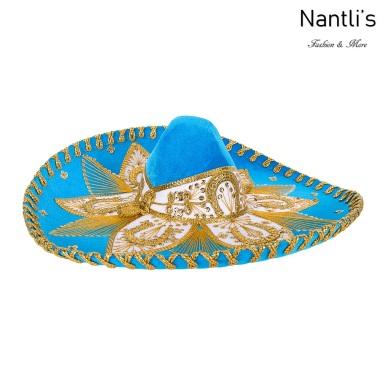 sombreros charros mayoreo TM-71224 Blue-Gold Sombrero Charro Nantlis Tradicion de Mexico