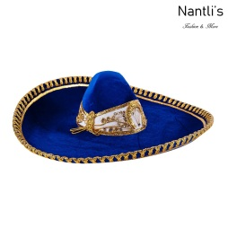 sombreros charros mayoreo TM-71225 Blue-Gold Sombrero Charro Nantlis Tradicion de Mexico
