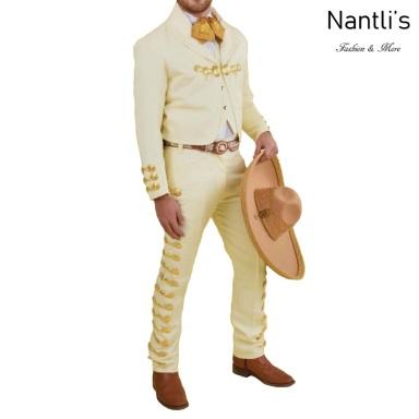 TM-72131 Beige-Gold Traje Charro hombre Botonadura mayoreo wholesale mens charro suit Nantlis Tradicion de Mexico