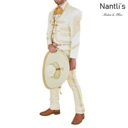 TM-72140 Beige-Gold Soutache Traje Charro hombre mayoreo wholesale mens charro suit Nantlis Tradicion de Mexico