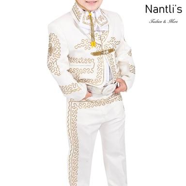 TM-72313 Beige-Gold Soutache Traje Charro nino mayoreo wholesale kids charro suit Nantlis Tradicion de Mexico
