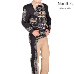 TM-72316 Black-Khaki-oro Soutache Traje Charro nino mayoreo wholesale kids charro suit Nantlis Tradicion de Mexico