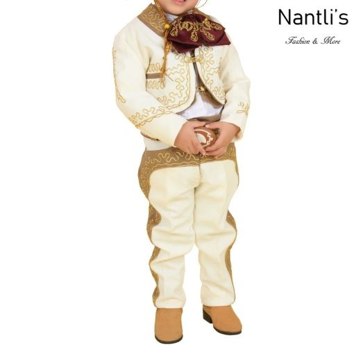 TM-72317 Beige-Camel-oro Soutache Traje Charro nino mayoreo wholesale kids charro suit Nantlis Tradicion de Mexico