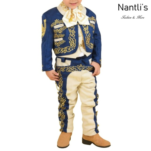 TM-72331 Navy-Beige-Gold Traje Charro nino Bordado caballo mayoreo wholesale kids charro suit Nantlis Tradicion de Mexico