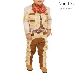 TM-72332 Beige-Camel-Gold Traje Charro nino Bordado caballo mayoreo wholesale kids charro suit Nantlis Tradicion de Mexico