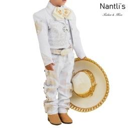 TM-72340 White-Silver Traje Charro nino Bordado caballo mayoreo wholesale kids charro suit Nantlis Tradicion de Mexico