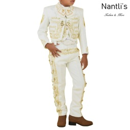 TM-72341 Beige-Gold Traje Charro nino Bordado Caballo mayoreo wholesale kids charro suit Nantlis Tradicion de Mexico