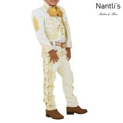 TM-72347 Beige-Gold Traje Charro nino Bordado Virgen de Guadalupe mayoreo wholesale kids charro suit Nantlis Tradicion de Mexico