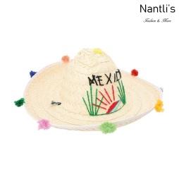 sombreros de paja mayoreo TM-74215 Sombrero de palma palm leaf hat Nantlis Tradicion de Mexico