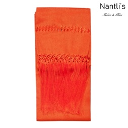 TM-75111-S Orange Rebozo Mexicano mayoreo wholesale Mexican Shawl 78x24 Nantlis Tradicion de Mexico