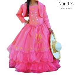 TM-76234 Rosa Mexicano Traje de Charro nina presentacion vestido chaquetin sombrero mayoreo wholesale Charro suit set for girls Nantlis Tradicion de Mexico