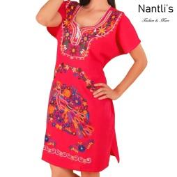 TM-77122 Vestido Bordado de Mujer mayoreo wholesale Mexican Embroidered Womens Dress Nantlis Tradicion de Mexico