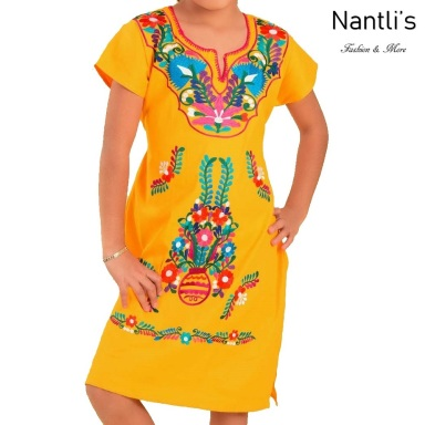 TM-77412 Vestido Kimonita de nina nantlis mayoreo wholesale embroidered dress for girls nantlis tradicion de mexico