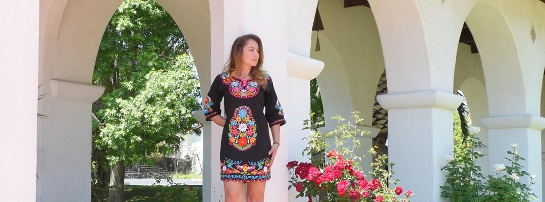 Vestidos Bordados Mayoreo Wholesale Mexican Embroidered Dresses Tradicion de Mexico by Nantlis