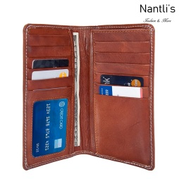 Porta-chequeras de piel vista dentro Mayoreo Wholesale Leather Checkbook Holders Nantlis Tradicion de Mexico
