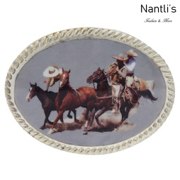 TM-20283 Hebilla vaquera Mayoreo Wholesale mexican western belt buckle Nantlis Tradicion de Mexico