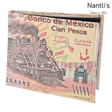 TM-41118 Carteras de piel Mayoreo Wholesale Leather Wallets Nantlis Tradicion de Mexico