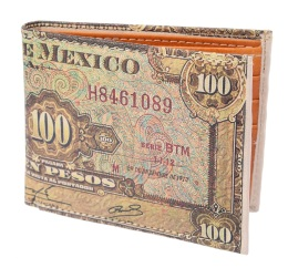 TM-41121 Carteras de piel Mayoreo Wholesale Leather Wallets Nantlis Tradicion de Mexico