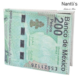 TM-41122 Carteras de piel 200 Pesos Mayoreo Wholesale Leather Wallets Nantlis Tradicion de Mexico