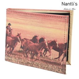 TM-41122 Carteras de piel caballos Mayoreo Wholesale Leather Wallets Nantlis Tradicion de Mexico