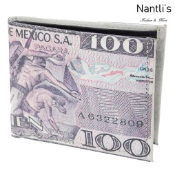 TM-41127 Carteras de piel Mayoreo Wholesale Leather Wallets Nantlis Tradicion de Mexico