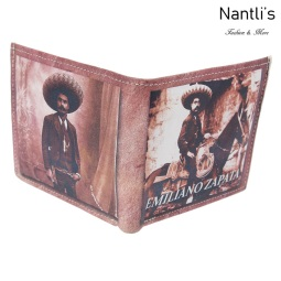 TM-41154 Carteras de piel Mayoreo Wholesale Leather Wallets Nantlis Tradicion de Mexico open