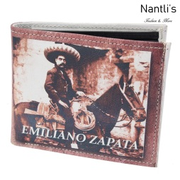 TM-41154 Carteras de piel Mayoreo Wholesale Leather Wallets Nantlis Tradicion de Mexico