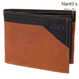 TM-41162 Tan Black Carteras de piel Mayoreo Wholesale Leather Wallets Nantlis Tradicion de Mexico