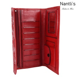 TM-41212 Carteras finas de piel para mujer Mayoreo Wholesale Fine Leather Wallets for women Nantlis Tradicion de Mexico open