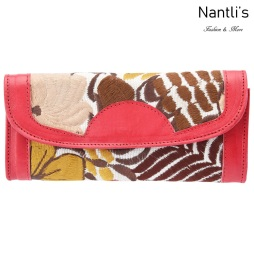 TM-41218 Carteras finas de piel bordadas para mujer Mayoreo Wholesale Fine embroidered Leather Wallets for women Nantlis Tradicion de Mexico