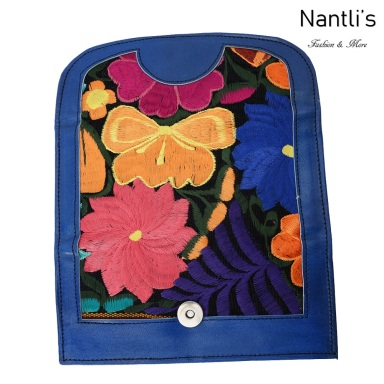 TM-41220 Carteras finas de piel bordadas para mujer Mayoreo Wholesale Fine embroidered Leather Wallets for women Nantlis Tradicion de Mexico open