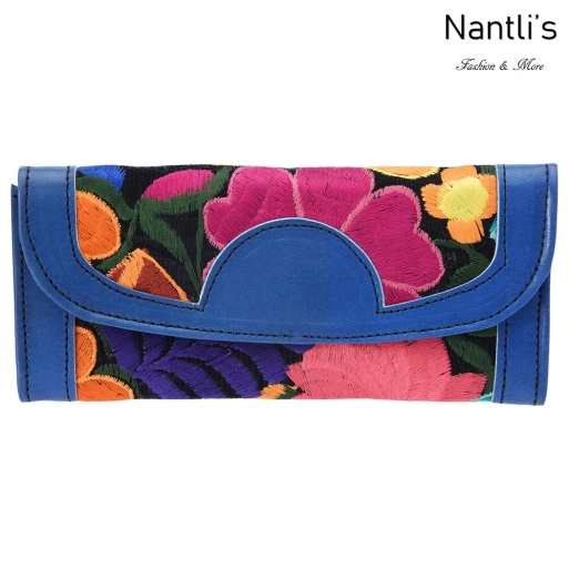 TM-41220 Carteras finas de piel bordadas para mujer Mayoreo Wholesale Fine embroidered Leather Wallets for women Nantlis Tradicion de Mexico
