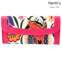 TM-41231 Carteras finas de piel bordadas para mujer Mayoreo Wholesale Fine embroidered Leather Wallets for women Nantlis Tradicion de Mexico