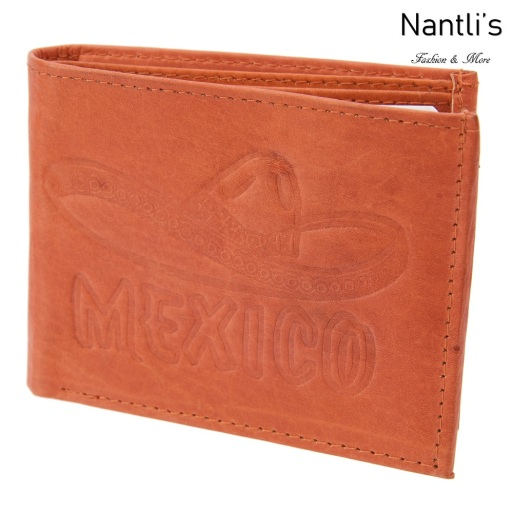 TM-41448 Carteras de piel grabadas Mexico Mayoreo Wholesale engraved Leather Wallets Nantlis Tradicion de Mexico open