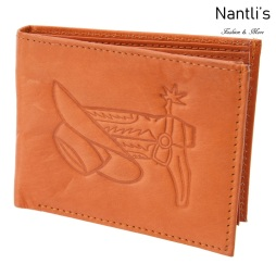 TM-41454 Carteras de piel grabadas Bota y Sombrero Mayoreo Wholesale engraved Leather Wallets Nantlis Tradicion de Mexico open