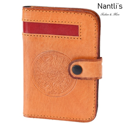 TM-41580 Porta-tarjetas de piel Mayoreo Wholesale Leather Business Cards Holders Nantlis Tradicion de Mexico