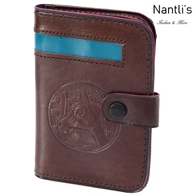 TM-41581 Porta-tarjetas de piel Mayoreo Wholesale Leather Business Cards Holders Nantlis Tradicion de Mexico