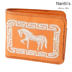 TM-41652 Carteras de piel Bordadas Mayoreo Wholesale Embroidered Leather Wallets Nantlis Tradicion de Mexico