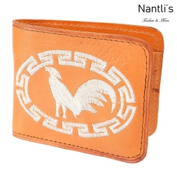 TM-41654 Carteras de piel Bordadas Mayoreo Wholesale Embroidered Leather Wallets Nantlis Tradicion de Mexico