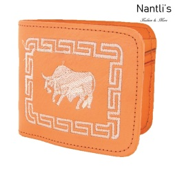 TM-41655 Carteras de piel Bordadas Mayoreo Wholesale Embroidered Leather Wallets Nantlis Tradicion de Mexico