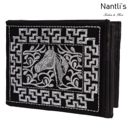 TM-41661 Carteras de piel Bordadas Mayoreo Wholesale Embroidered Leather Wallets Nantlis Tradicion de Mexico