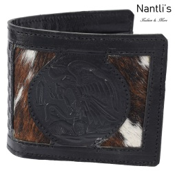 TM-41682 Carteras de piel grabadas Mayoreo Wholesale engraved Leather Wallets Nantlis Tradicion de Mexico