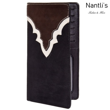 TM-41743 Porta-chequeras de piel Mayoreo Wholesale Leather Checkbook Holders Nantlis Tradicion de Mexico