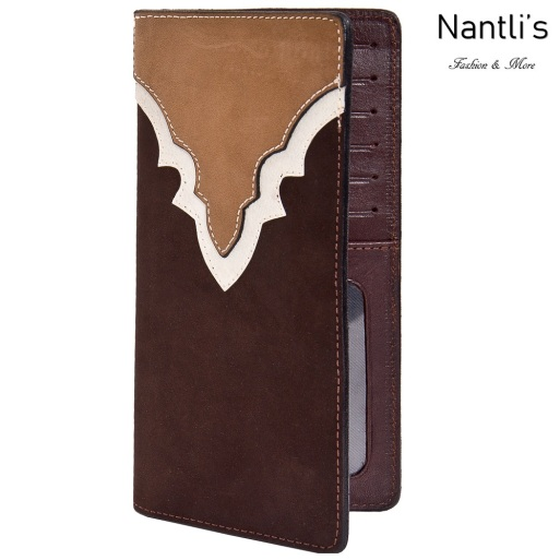 TM-41745 Porta-chequeras de piel Mayoreo Wholesale Leather Checkbook Holders Nantlis Tradicion de Mexico